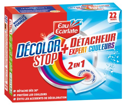 Eau Ecarlate 831 Tücher zum Schutz der Farbe und Fleckenentferner, 2-in-1, 22 Beutel mit je 30 g