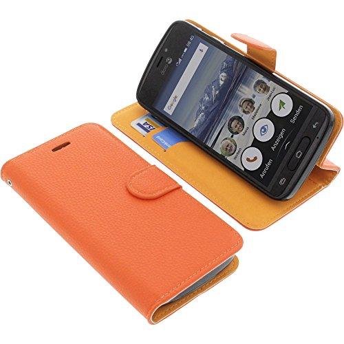 Tasche für Doro 8040 Book Style orange Schutz Hülle Buch