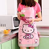 Zollyss Hello Kitty Waterproof Apron Kitchen Women Kids Novelty Children Aprons