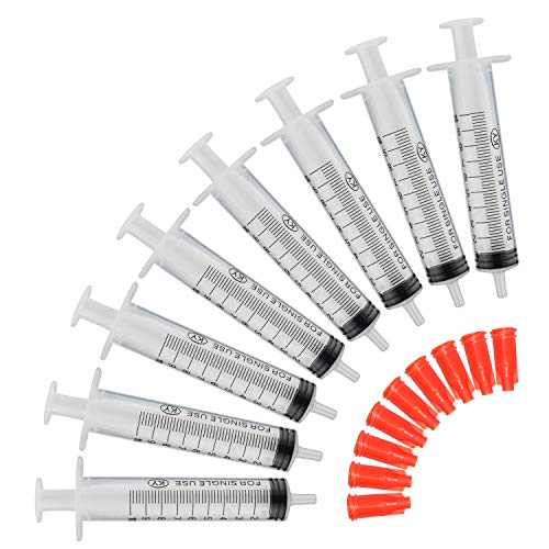 COTOM 10ml 20pack Spritze, Einmalspritzen/Plastik Spritzen/Dosier spritze/Füllvolumen/Spritze Ohne Nadel/Spritzen-Set Kunst Stoff Spritze, Keine Nadel