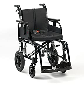 "Drive DeVilbiss Healthcare SD2 Aluminium Transit Wheelchair in Black (20"" Seat Width)"