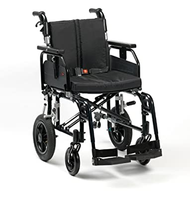 "Drive DeVilbiss Healthcare SD2 Aluminium Transit Wheelchair in Black (22"" Seat Width)"