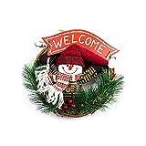 NiceButy Weihnachts-Kranz mit Schneemann für die Weihnachtsfeier, Weihnachtsdekoration