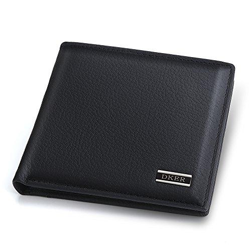 Expresstech @ Geldbörse aus Leder RFID Schutz Brieftasche RFID-Schutzhülle PU Leder Geldbeutel RFID-Blocker Schutz Geldbörse - Schwarz (Schwarz Brieftasche Geldbörse)