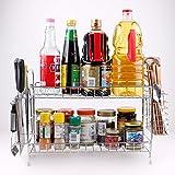 Removable Especiero Rack Organizador apilable Chickwin genial para organizar sus especias Condimento para armarios de cocina, artesanías, maquillaje, rack de almacenamiento (C)