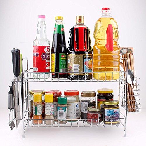 Abnehmbare Küchenregal Gewürzregal Rack Stackable Organizer Chickwin Toll für die Organisation Ihrer Gewürze Würze für Küchenschränke, Handwerk, Make-up, Storage Rack (Diy Figur Film Kostüme)