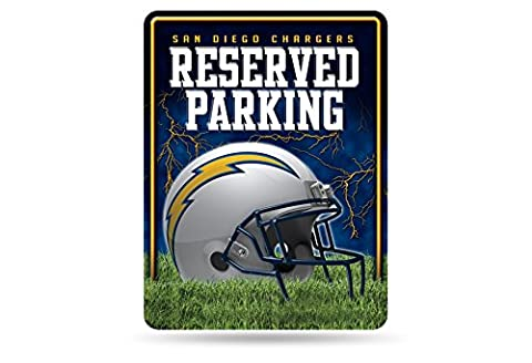 NFL San Diego Chargers Hi-Res Metal Parking Sign