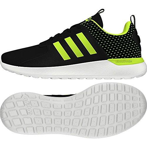 adidas Cf Lite Racer, Scarpe da Corsa Uomo Nero (Core Black/solar Yellow/footwear White)