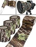 Outdoor Saxx - Camouflage Tarn-Tape Real Forest | Gewebe-Band Wasserfest Mehrfach verwendbar | Kamera, Ausrüstung, Jäger, Angler, Fotografen | 4,5m, 3er Set