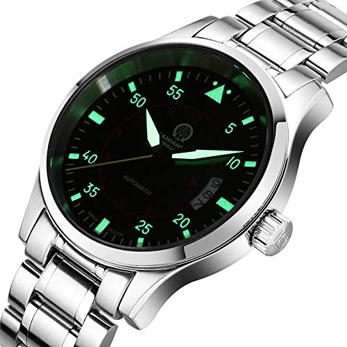 BINGABSFW Mens Uhren Top-Marke Luxus Automatische Mechanische Uhr Männer Karneval Leder Stahlband Armbanduhr Männliche Uhr reloj Hombre -
