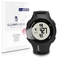 iLLumiShield - Garmin Approach S1 Crystal Clear Screen Protectors with Anti-Bubble/Anti-Fingerprint - 3-Pack + Lifetime Replacements