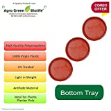 #4: Green and Pure - Premium Quality 10 Inch Bottom Tray | Saucer | Base Plate for Planters Pack of 3 - Brown Colour