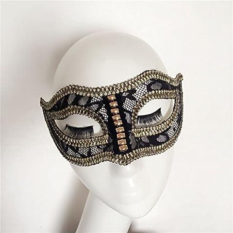 HUAXI Moda a mano su misura amanti maschera, maschera di palco spettacoli, mascherina del partito, festa maschera
