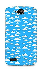 Amez designer printed 3d premium high quality back case cover for Huawei Honor Holly (cute blue clouds )