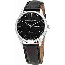 Frederique Constant Reloj de hombre cuarzo 40mm correa de cuero FC-225GT5B6
