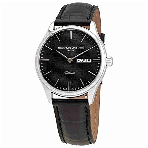 Constant Frederique Herren-uhren (Frederique Constant Herren-Armbanduhr 40mm Armband Leder Quarz FC-225GT5B6)