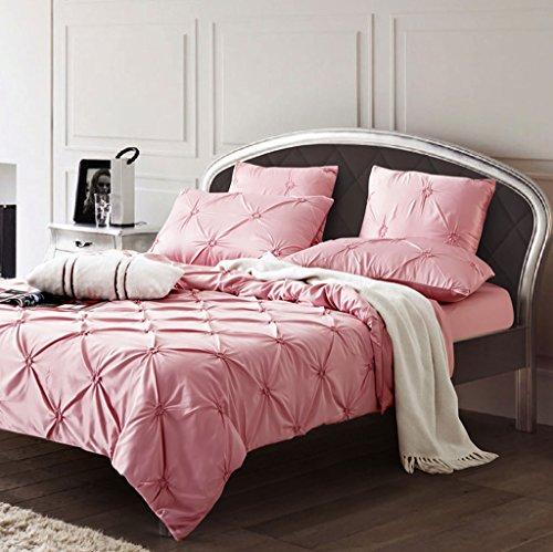Bettverkleidungen Sechsteiliges Set luxuriös romantisch Komfortabel Gewaschen Twisted Blumen Mehrere Sets Bettwäsche Quilt Baumwolle (Color : E, Size : 220 * 240cm) -