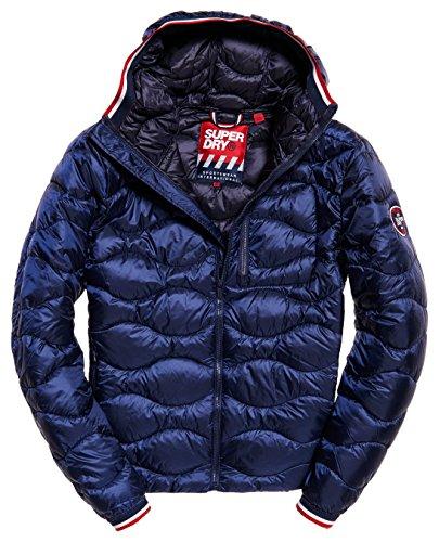 Navy Blue Jacke Hot (Superdry Herren Men's Quilt Hooded Jacket Jacke, Navy, X-Groß)
