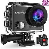 Crosstour Action Cam Sport-Kamera 4K Wifi Camera mit Fernbedienung Ultra HD 30M Unterwasserkamera...