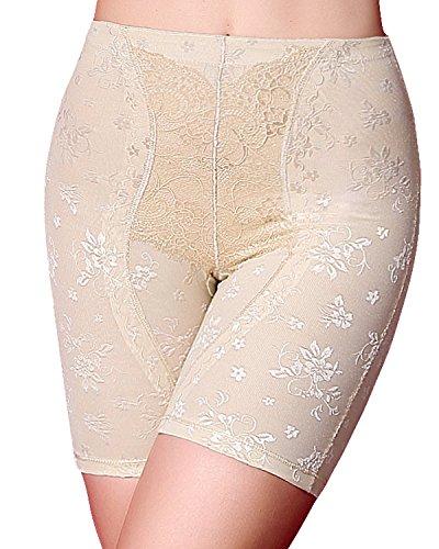 Anti Bakterielle Frauen Hallo-Waist Shapewear Nahtlose Shaper Panty Frim Control (2XL, Beige) (Boyshort Brasilianische)