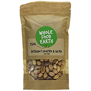 Wholefood Earth Roasted and Salted Pistachio's, 250 g