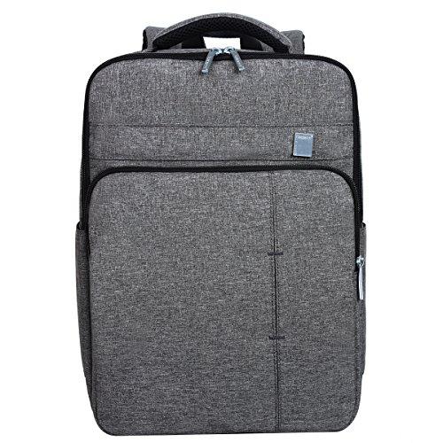 "Eshow Nylon Laptop Rucksack Backpack Schulrucksack Laptoprucksack für 13"" 13.3"" 14"" Laptop Notebook Computer Arbeit Campus Studenten, Hellgrau"