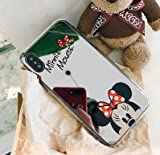 TN Cases Store Coque iPhone X et iPhone XS Minnie Mickey Mouse Effet Miroir Design Silicone Souple