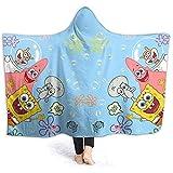 Jasmin-Shop Kapuzendecke Love Minnie Mouse Print Superweiche Flanell Sherpa Plüsch Fleece Tragbare Decke -50 'x 40'