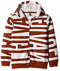 United Colors of Benetton Boys Sweatshirt (16A3067C0050I902L_Red and White_L)