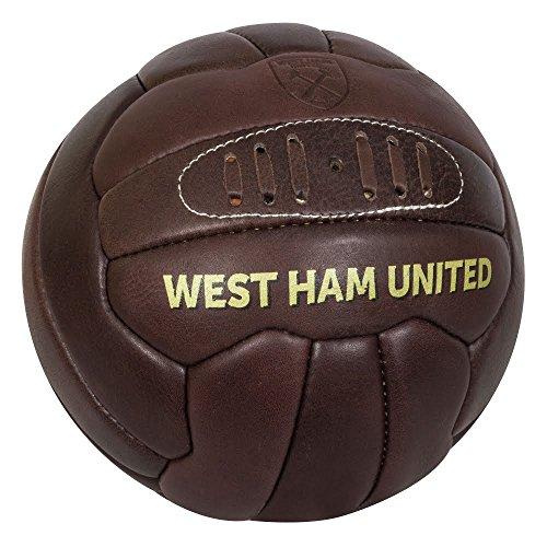 Cuero West Ham United retro Tamaño Cordones Escuela vieja del fútbol 5 Oficial
