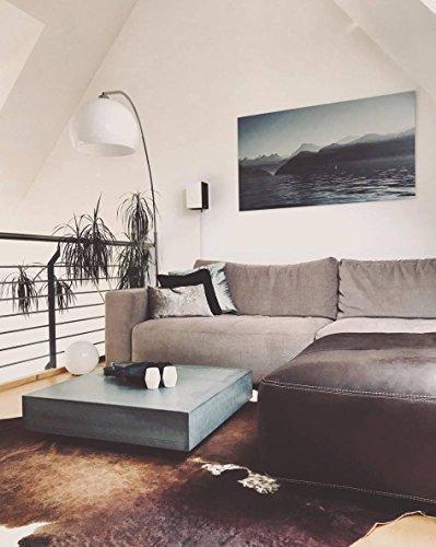 Massiver Beton Couchtisch Schwebend und Rollbar B&K Design Wohnzimmertisch/Beistelltisch/Sofatisch/Betonmöbel/Betontisch aus echtem Beton ! -