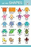 Poster | All Shapes Printed educational wall chart/Poster by 100yellow