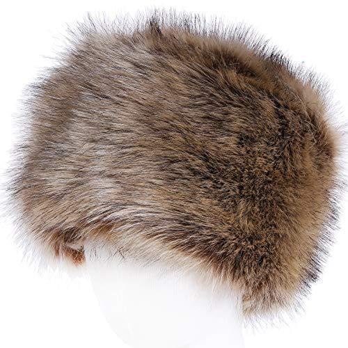 Soul young cappello di vera pelliccia di volpe per donna stile russo russian style(natura)