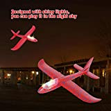"""FunBlast Airplane Toy 17.5"""" Large Throwing Foam Plane With LED Light, Dual Flight"""