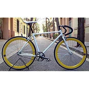 Mowheel Bicicleta Monomarcha Pista Fixie-B clásica T-50CM Amarilla