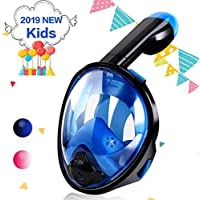 Keiyallon Snorkel Mask, Full Face Snorkeling Mask,180°Panoramic Design,Snorkeling Mask Anti-Fog Anti-Leak Design With Detachable Camera Mount,Easy Breath Dry Top Set for Adults Youth Child