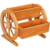 Habau Flower Box with Wagon Wheels