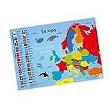 nikima Kinder Lernposter Europa - Plakat für Kindergarten Schule Schulanfang Schuleintritt Einschulung Kinderzimmer Deko Wandbild - Größe DIN A3-420 x 297 mm
