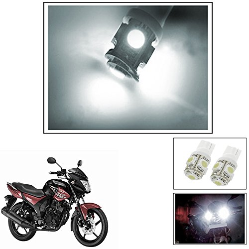Vheelocityin 5 SMD LED Parking Bulbs for All Bikes/Motorcycle/ ScooterFor Yamaha Sz-Rr Ver 2-0