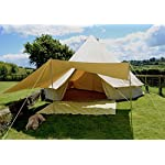 400 x 260cm AWNING with Extra Eyelets 100% Cotton Canvas Suitable for 4m 5m 6m Bell Tent Available in Sand or Grey