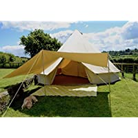 tenty.co.uk 400 x 260cm AWNING with Extra Eyelets 100% Cotton Canvas Suitable for 4m 5m 6m Bell Tent Available in Sand or Grey