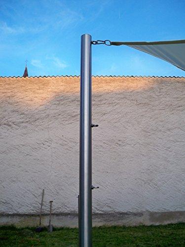 Sonnensegelmast Sonnensegel Sonnensegelpfosten Edelstahl 3m ∅60,3mm 6030/2-3