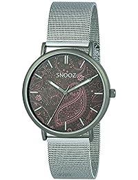 Snooz Reloj Analógico para Hombre de Cuarzo con Correa en Acero Inoxidable Saa1042-86