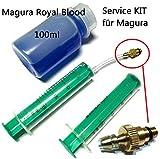 F26 Service Kit mit 100ml Magura Royal Blood Öl Louise Marta MT 8 6 4 3 2 und Hs11 Hs33 ab 2011