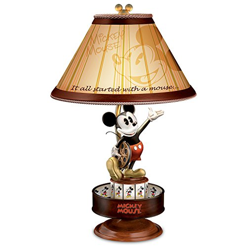 Disney Mickey Maus Lampe mit Spinning Animation und Silhouette Schatten von The Bradford Exchange