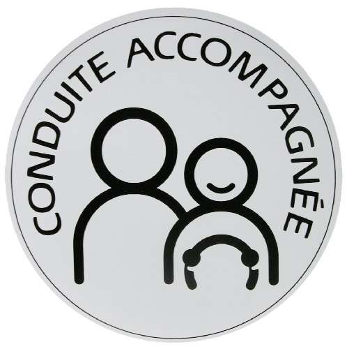 """Carlinea 463264 """"Conduite Accompagnée"""" (Supervised Driver) Magnetic Sticker [French Language]"""