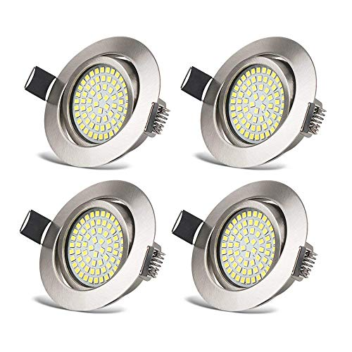 Foco Empotrable LED Luz de Techo 3.5W Ultra Slim Plano Downlight Blanco...