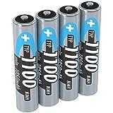 ANSMANN NiMH Micro AAA Akkus 1,2V, Typ Battery 1100mAh, Leistungsstarke Akkubatterien für Geräte mit hohem Stromverbrauch - ideal für Phone & Kameras 4 Stück, Accu Batterien AAA vom Testsieger