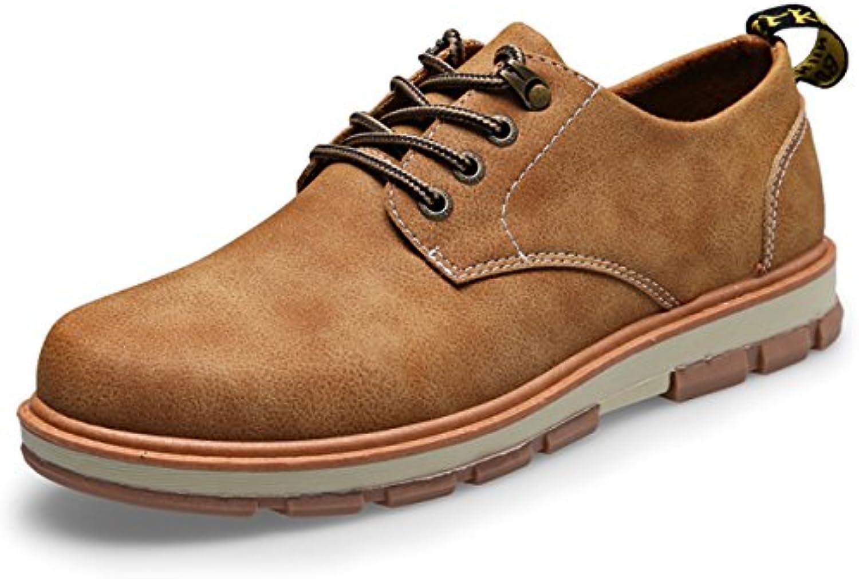CHNHIRA Herren Leder Schnürhalbschuhe Sneakers