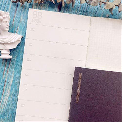 Carta Per Ricarica Notebook Wbdd Retro Traveler A5 Grigio piano settimanale